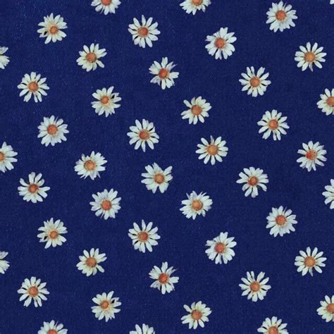 flower print fabric navy blue background blue white pink navy blue background white daisies print patterns