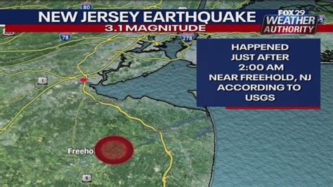 magnitude earthquake rumbles monmouth county early