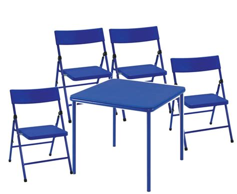 Folding Table And Chair Set by New Cosco Table And Folding Pinch Free 4 Chair Set Ebay