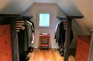 Dormer Closet dormer closet shelves w folly hanging rods modern