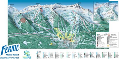 alpine mountain skimap org fernie alpine resort skimap org