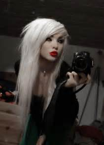 black with platinum hair stunning in platinum hair colors ideas