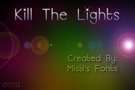 kill the lights font 1001 free fonts