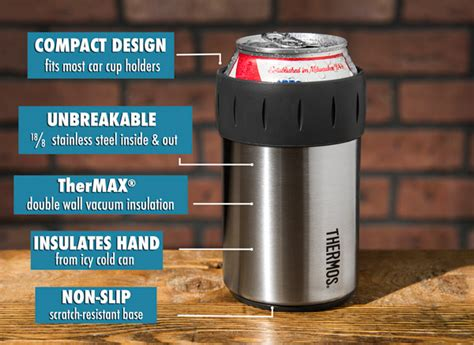 Termos Stainleess And Cool thermos stainless steel can insulator