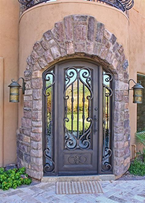 glass inlay front doors 1000 ideas about security door on security