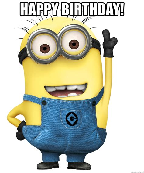 Despicable Me Minions Meme - happy birthday despicable me minion meme generator