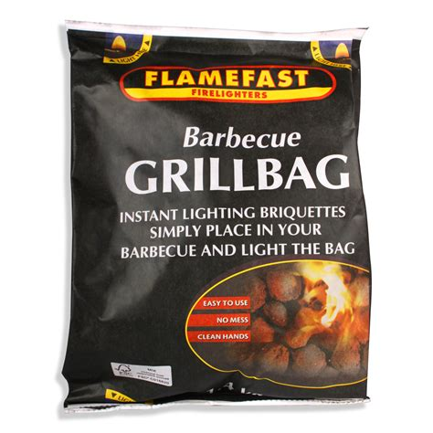 flamefast grill bag instant light the bag bbq charcoal