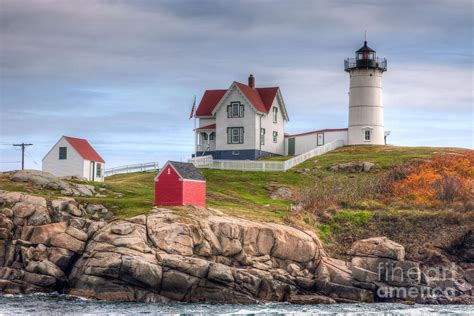 Cape Neddick Light by Cape Neddick Nubble Lighthouse I By Clarence