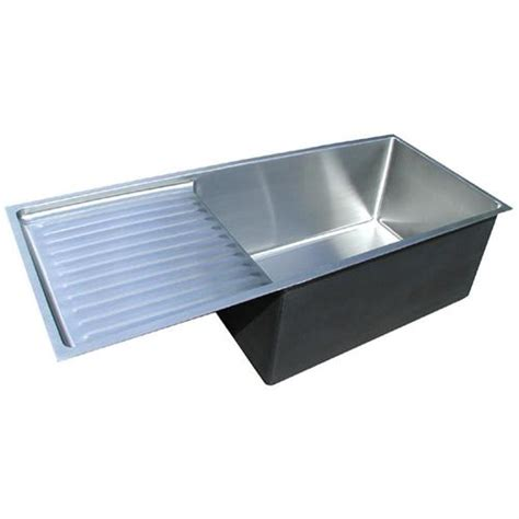 kitchen sinks with drainboard custom stainless sink drainboard sinks from handcrafted metal