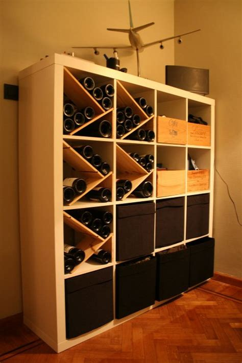 kallax wine rack 25 ikea kallax or expedit shelf hacks hative
