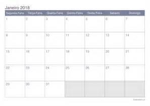 Calendario 2018 Janeiro Calend 225 Janeiro 2018 Para Imprimir Icalend 225 Pt