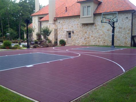 backyard basketball court flooring backyard basketball court home sport court sport court