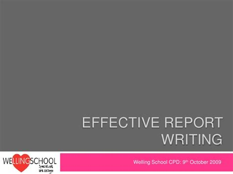 effective report writing sles effective report writing