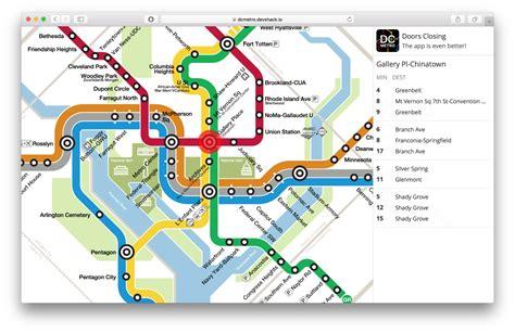 hotel map interactive an interactive dc metro map mike surowiec medium