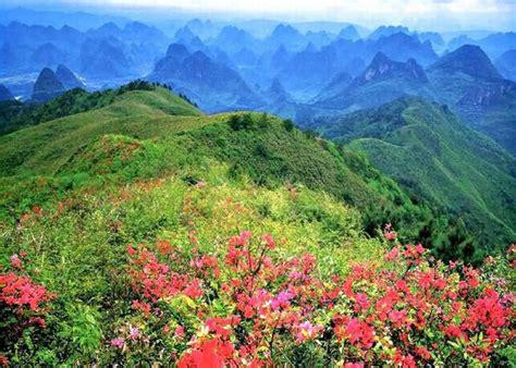 yao mountain  spring guilin yao mountain travel