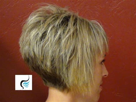 wedge haircut with stacked back how to do a short stacked haircut with straight bangs