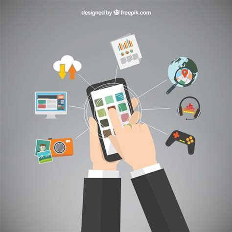 app mobile phone mobile phone apps vector free