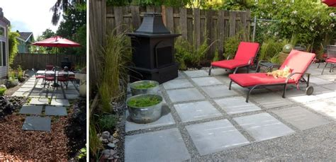 concrete pavers permeable patio outdoor room with