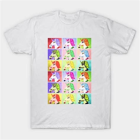 Popart T Shirt unicorn pop andy warhol t shirt teepublic