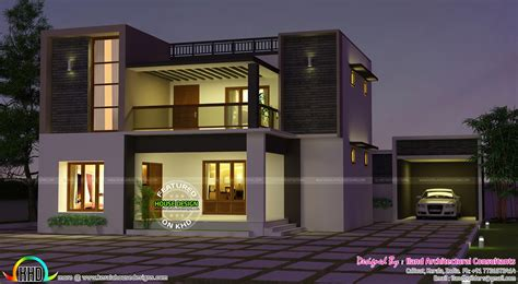 3 bed room flat roof villa with courtyard 2172 sq ft home kerala plans flat roof 3680 sq ft 3 bedroom home kerala home design and floor plans