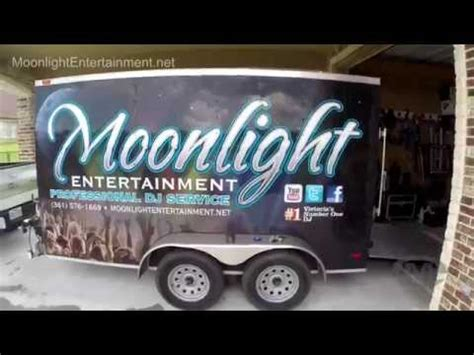 how to setup and secure equipment in a dj band trailer