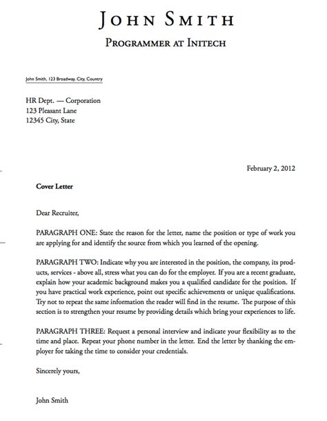 It Cover Letter Template by 5 Free Cover Letter Templates Excel Pdf Formats