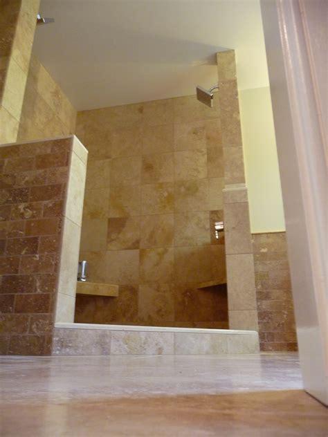 moderne häuser 2018 modern walk in shower no door with neutral brown