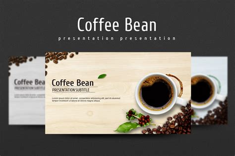 Coffee Bean Presentation Templates On Creative Market Coffee Templates Free Ppt