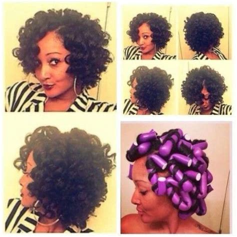 how to roll hair with jumbo flexi rods pinterest the world s catalog of ideas