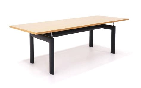 le corbusier for cassina lc6 dining or conference table at