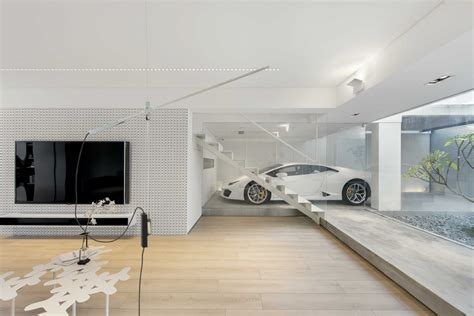 car in living room a car lover s ideal home in hong kong