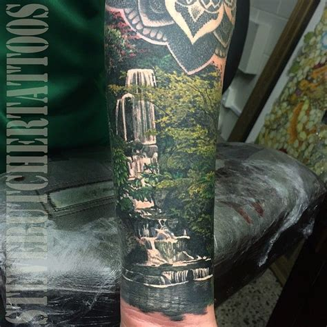 waterfall tattoo best 25 waterfall ideas on waterfall