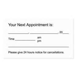 appointment cards templates free free appointment cards printable search results