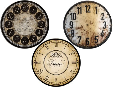 printable vintage clock faces new years free clock face printables cd size and plate