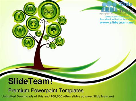ppt themes on environment ecology tree environment powerpoint templates themes and