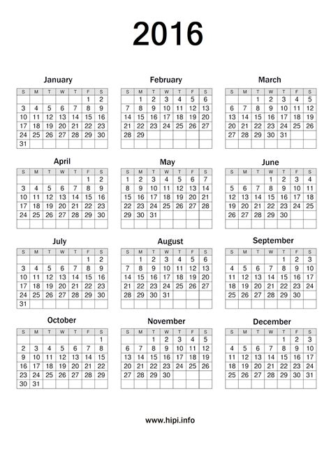 printable version of a 2016 calendar free printable calendar 2016 4 months calendar template 2016