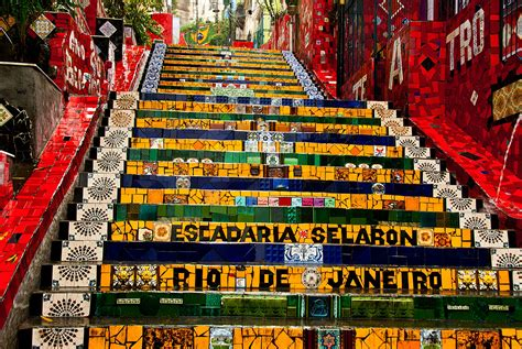 famous stairs famous steps escadaria selaron ling ge photo