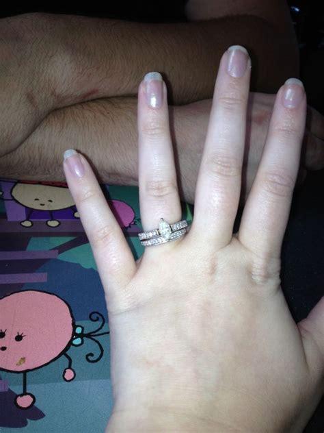 wedding band for marquise engagement ring weddingbee