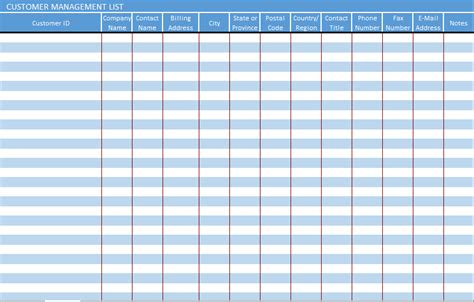 contact management template raj excel customer management list excel template