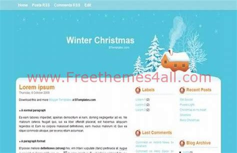 winter templates for blogger blogger winter christmas blue template freethemes4all