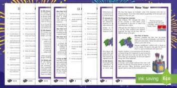 new year ks2 literacy ks2 new year differentiated reading comprehension activity