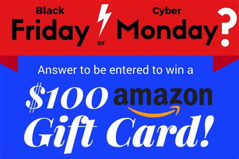 Amazon Gift Card Black Friday - 100 amazon gift card sweepstakes sweepstakesdaily com