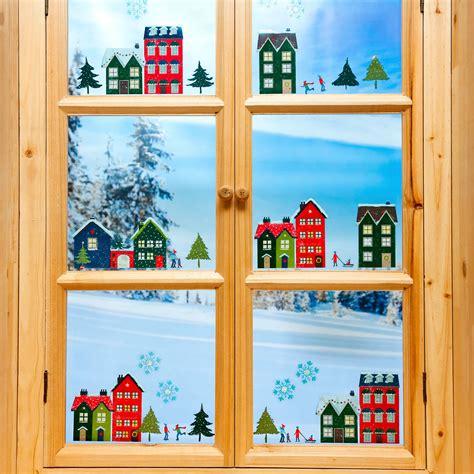 Fenstersticker Winter by Fenster Sticker Winterdorf Von G 228 Rtner P 246 Tschke