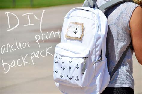 homemade boat anchor design mr kate diy anchor print backpack