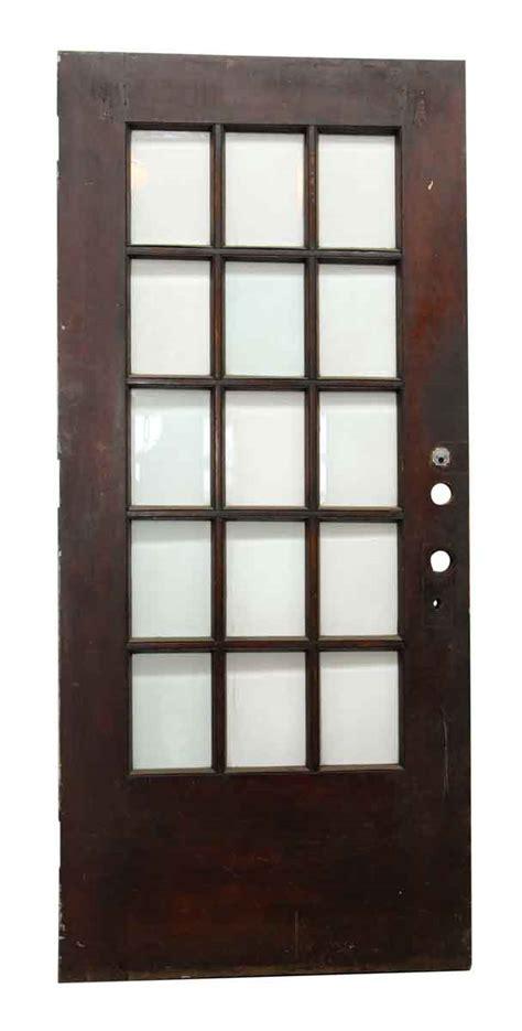 15 Glass Panel Door 15 Beveled Glass Panel Wood Door Olde Things