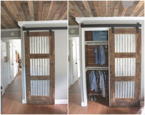 Tin Door Decorations by Corrugated Doors Diy Farm Style Corrugated Tin Closet