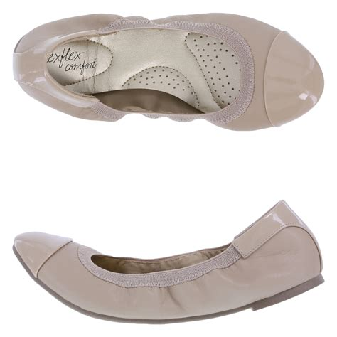 flat comfort shoes dexflex comfort s scrunch flat shoe payless