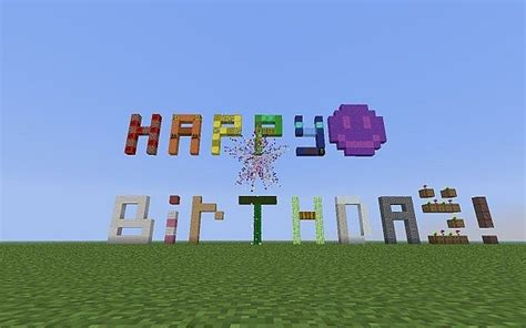 Minecraft Happy Birthday Pictures