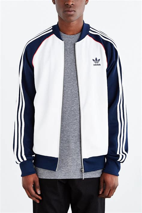 Adidas Los Angeles Superstar Track Jacket White Originals lyst adidas originals superstar track jacket in white for