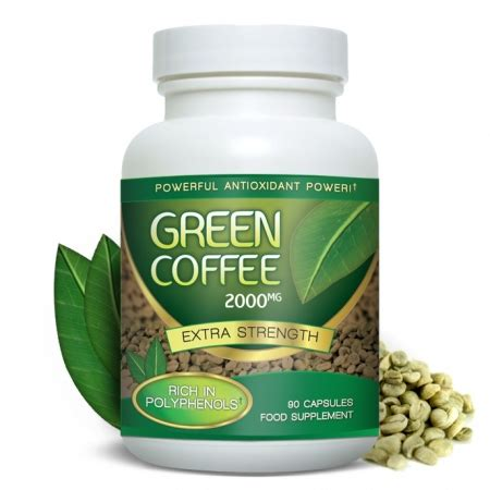Info Green Coffee green coffee extract 6000mg with 20 percent chlorogenic acid gca 90 capsules health hq
